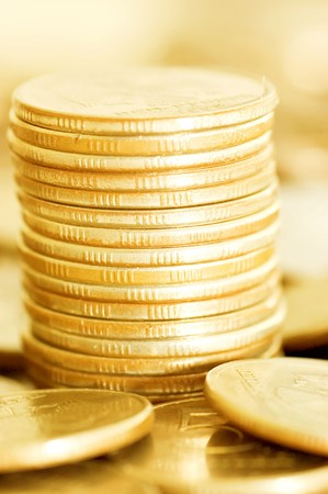 coins macro close up background Stock Photo - 7016443