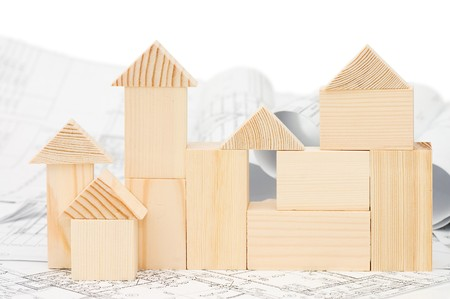 Model of the wooden house on the project photo