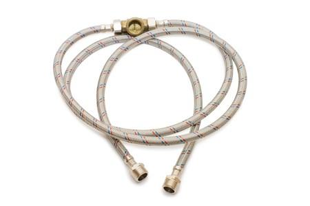 sheath: plumbing tube in a metal sheath