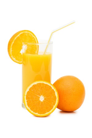 Orange juice in a decanter isolated Stock Photo - 7101407