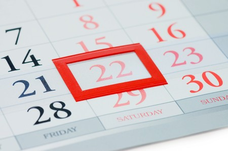 Noted date on a calendar Stock Photo - 7101437