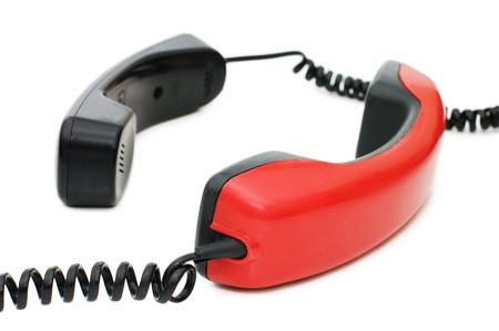 telephone receiver isolated on white background  photo
