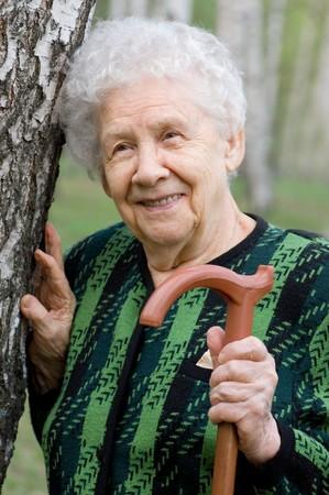 Portrait von die alte Frau