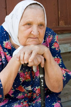 Portrait of the old woman Stock Photo - 7377296