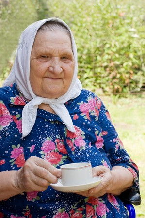 Portrait of the old woman Stock Photo - 7377297