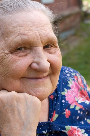 Portrait of the old woman Stock Photo - 7377295