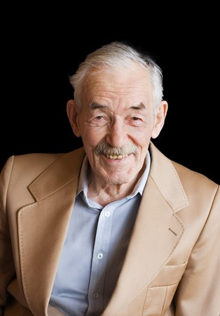 Old man with moustaches in a jacket  photo