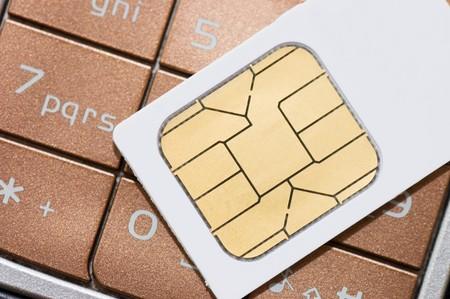 key card: cellphone and sim card Stock Photo