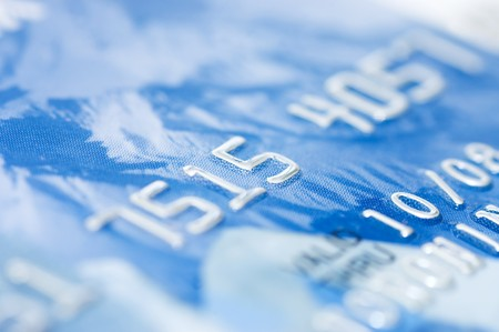 macro shoot of a credit card  Stock Photo - 7562756