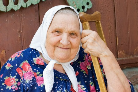 Portrait of the old woman Stock Photo - 7649684