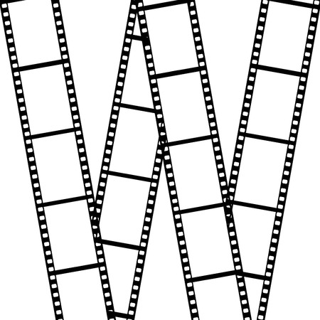 Film  isolated on white background  photo