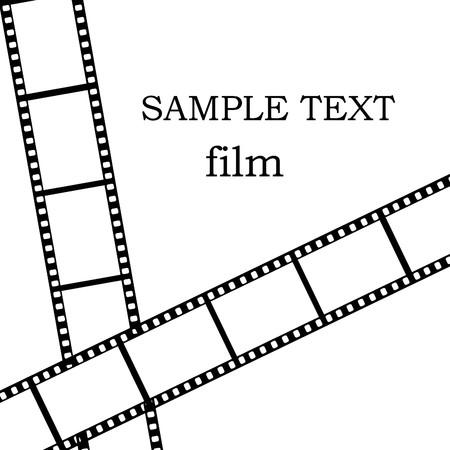 Film isoliert auf wei�em Hintergrund