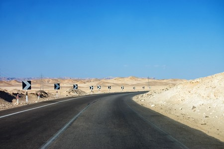 High-speed highway in Egypt  Stock Photo - 7970969