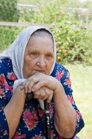 Portrait of the old woman Stock Photo - 8074438