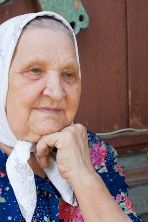 Portrait of the old woman Stock Photo - 8154008