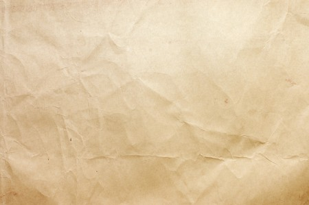 creasy: Sheet of paper isolated on white background