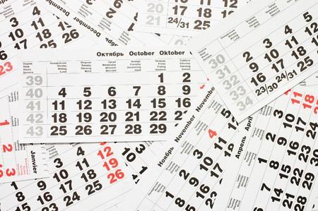Calendar sheets Stock Photo - 8241402