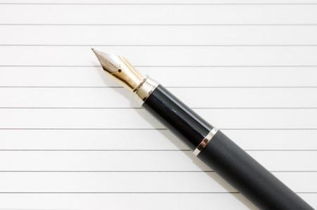 fountain pen: Elegant fountain pen on paper