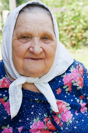 Portrait of the old woman Stock Photo - 8241877