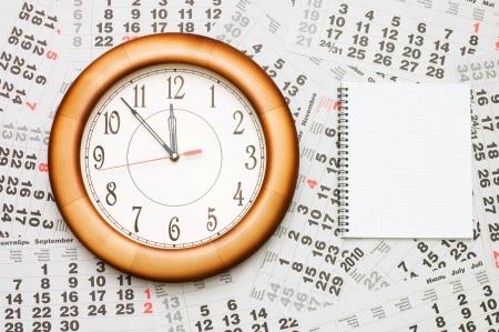 Composite of Calendar and Clock Stock Photo - 8241871