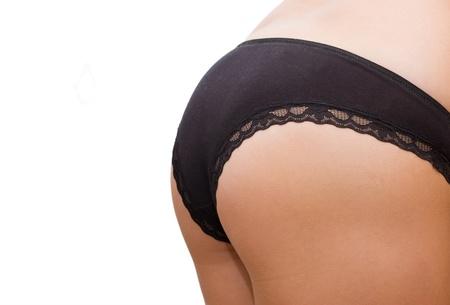 Female buttocks isolated on white background photo