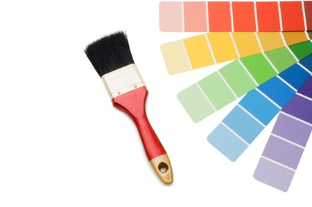 ordinate: Color guide for selection isolated on white background Stock Photo