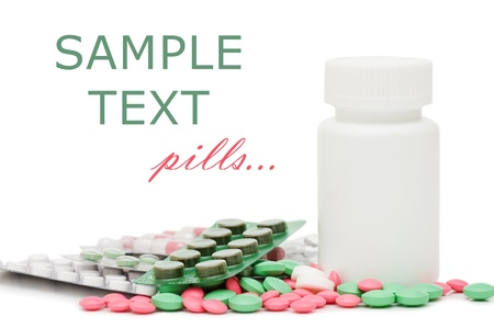 Packs of pills - abstract medical background  photo