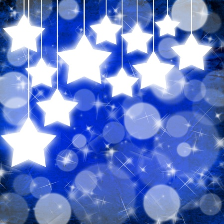 Dark blue Christmas background with stars Stock Photo - 8338572