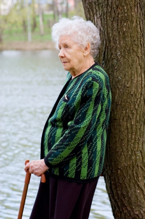 Portrait of the old woman Stock Photo - 8384092