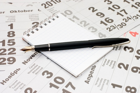 Fountain Pen and blank spiral bound notepad Stock Photo - 8384007