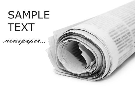 newspapers: Oll van kranten, geïsoleerd op witte achtergrond  Stockfoto