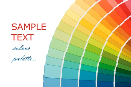 Color guide for selection isolated on white background Stock Photo - 8451954
