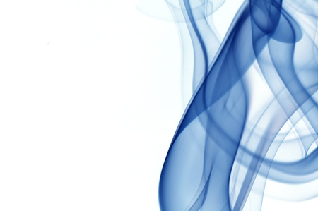 fragrance: abstract smoke isolated on the white