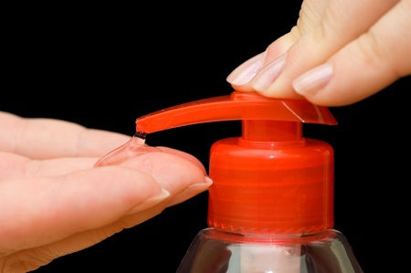 Foaming hand soap for washing photo