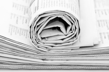 Roll of newspapers Stock Photo - 8596505