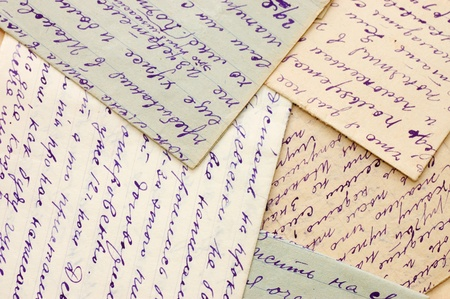 air mail: Old letters as a background