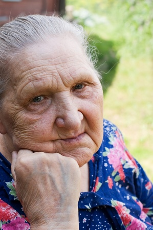 Portrait of the old woman Stock Photo - 8645164