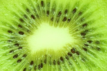 Macro of a fresh kiwi photo