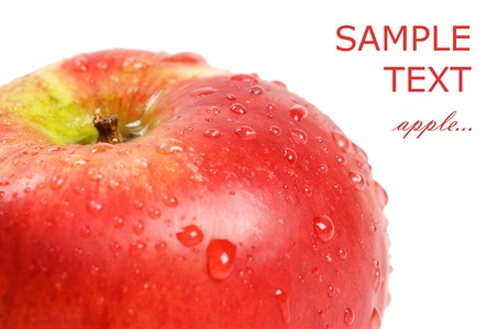 Fresh red apple with water drops Stock Photo - 8701988