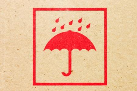 Sign an umbrella on a box Stock Photo - 8702155