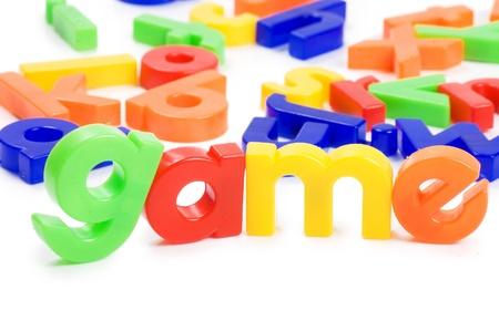 Plastic English letters isolated on white background Stock Photo - 8702088