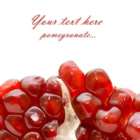 pomegranate isolated on white background photo