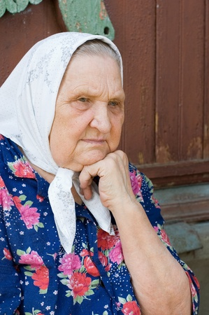Portrait of the old woman photo