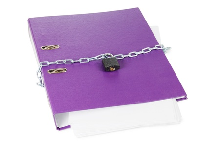 Office folders isolated on the white background photo