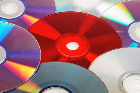 Background with CD  DVD disks photo