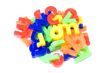 Plastic English letters isolated on white background Stock Photo - 8834889