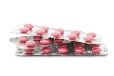 Packs of pills isolated on white background Stock Photo - 8834861