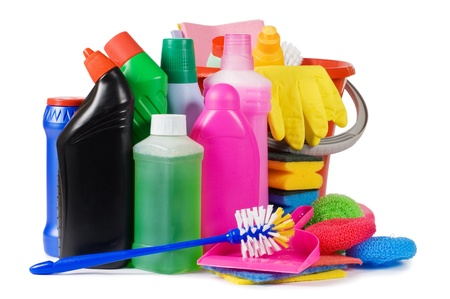 means: Assortment of means for cleaning isolated