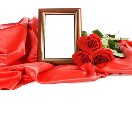 Red rose with a framework for a photo Stock Photo - 8926035