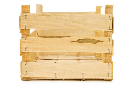 wooden crate: Wooden box isolated on a white background